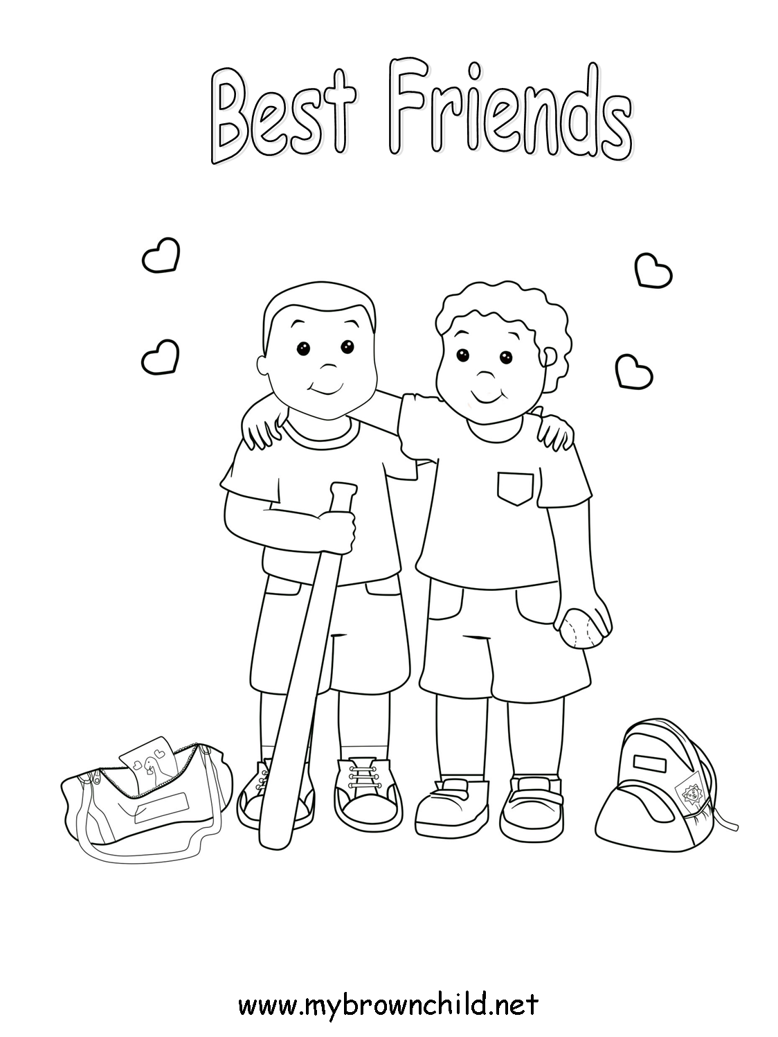 Free Coloring Pages for Children of Color (non-commercial) |